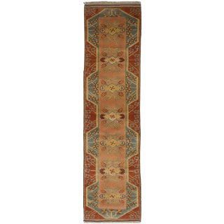 Vintage Turkish Oushak Runner - 2′6″ × 10′8″