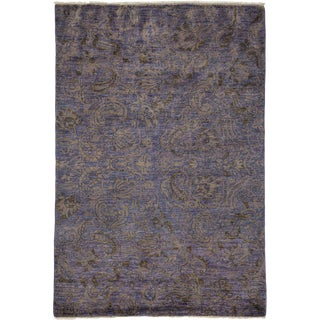"Suzani, Hand Knotted Area Rug - 4' 3"" x 6' 1"""