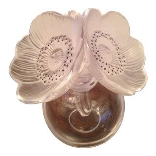 """Vintage Lalique """"Anemones"""" Perfume Bottle"""