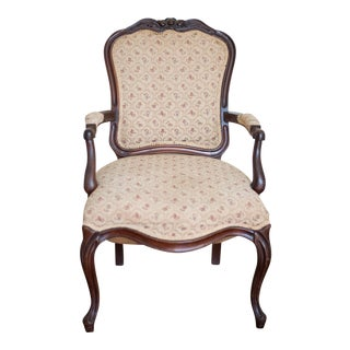 French Upholstered Fauteuil Armchair