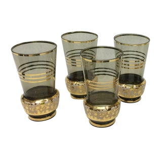 Mid-Century High Ball Glasses - Set of 4
