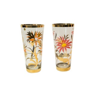 Hand Painted Vases - S/2