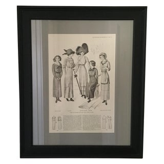 Framed Early 1900s Fashion Print