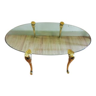 Brass and Glass Table, Manner of P.E. Guerin