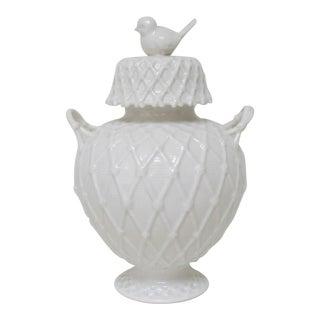 White Porcelain Ginger Jar