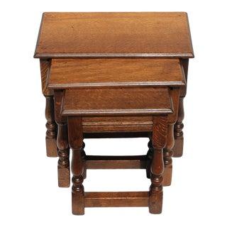 Set of Three English Nesting Tables, 19th Century