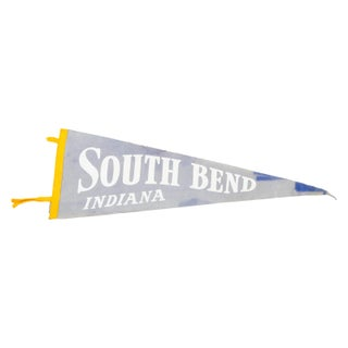 Vintage South Bend Indiana Felt Flag Banner