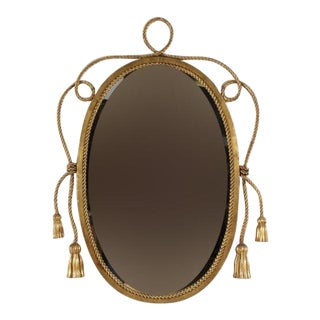 Hollywood Regency Vintage Tassel & Rope Mirror