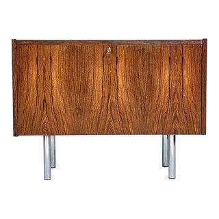 Danish Rosewood Drop Front Cabinet