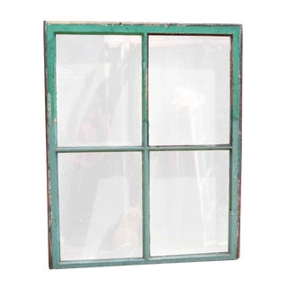 Vintage Glass & Wood Frame Window