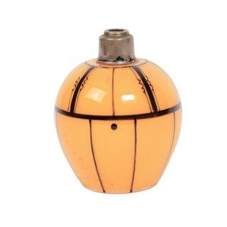 Czech Art Deco Tangerine Perfume Bottle