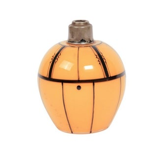 Czech Art Deco Tangerine Perfume Bottle
