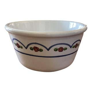 Hand Glazed Painted Floral Bowl