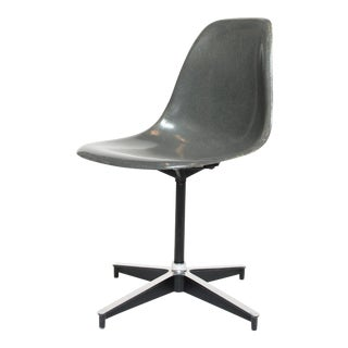 Eames Grey Fiberglass Side Chair
