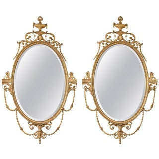 Giltwood Adams Style Friedman Mirrors - Pair