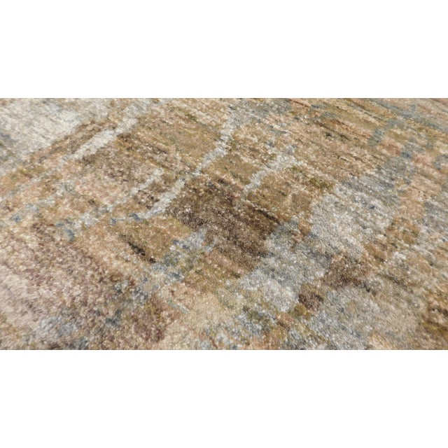 """Abstract Hand-Knotted Rug - 8′ × 9′11"""" - Image 10 of 10"""