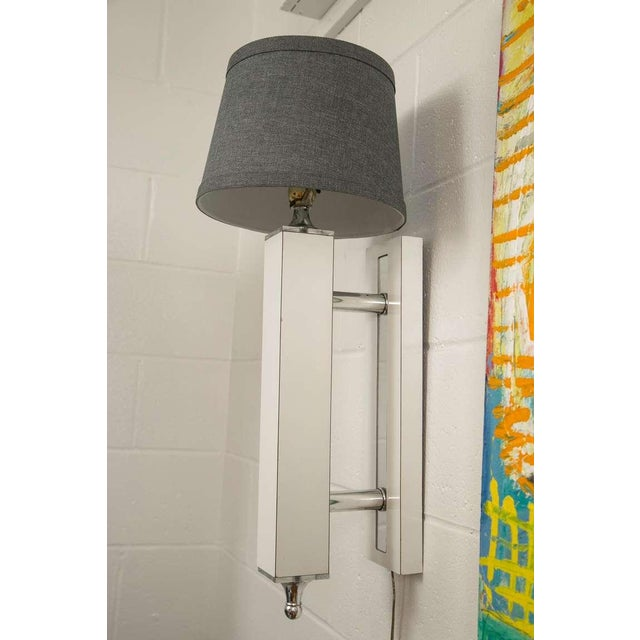 Pair of Midcentury Wall Sconce with Lucite Accents - Image 4 of 9