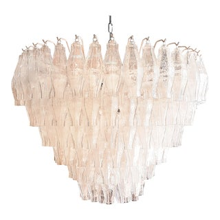 Venini Polyhedral Murano Glass mid century Chandelier