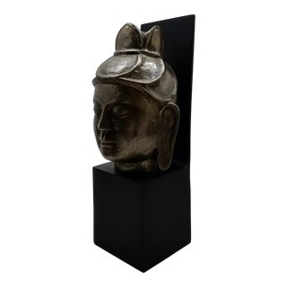Buddhist Head Sculpture Wall Art #2