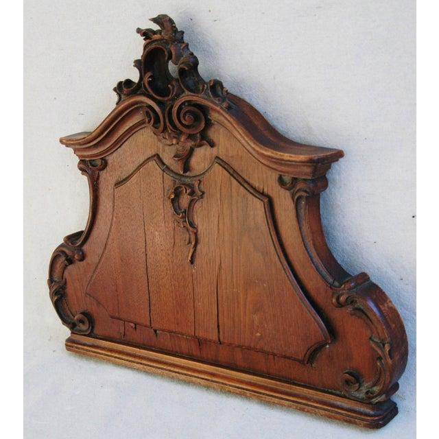 Architectural Wood Pediment : Antique architectural carved wood pediment chairish