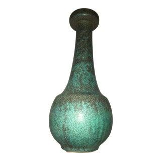 Modernist Green Patina Vase