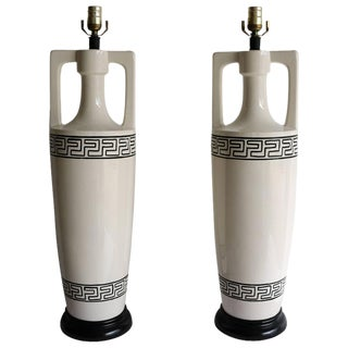 Art Dec Hollywood Regency Style Table Lamps - A Pair