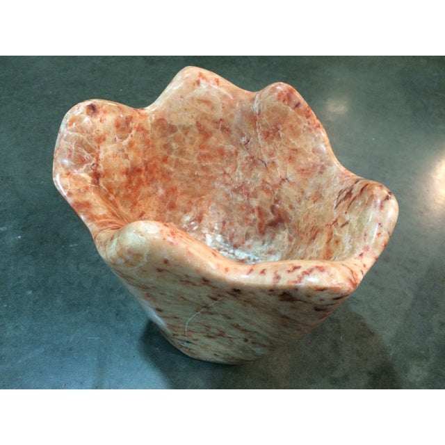Italian Marble Head Cheese Natural Vase - Image 3 of 6