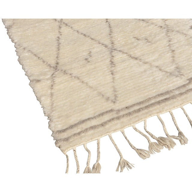 "Moroccan Silk & Wool Runner - 2' 7"" x 6' - Image 3 of 3"
