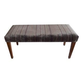 Estate Lavender Gray Custom Bench/Ottoman 40 x 17 x 18.5 Excellent