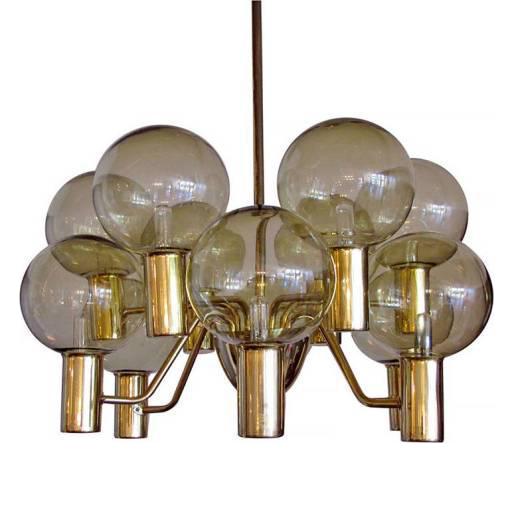 hansagne arm brass chandelier - Brass Chandelier