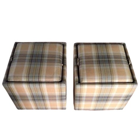 Crate Barrel Nomad Storage Cubes A Pair Chairish