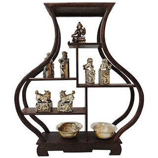 10-Piece Miniature Wood Stand & Decor Set
