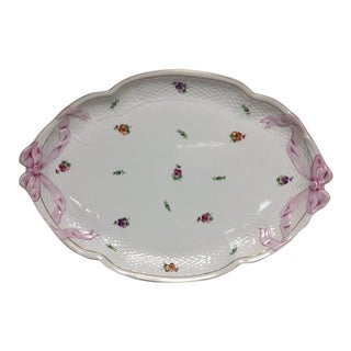 Herend Printemps Oval Ribbon Tray