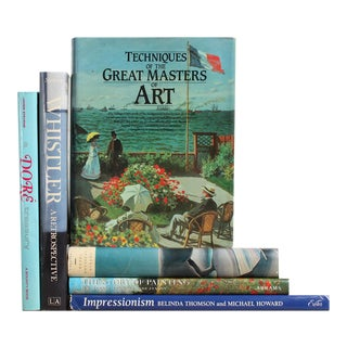 Blue Coffee Table Art Books - Set of 6