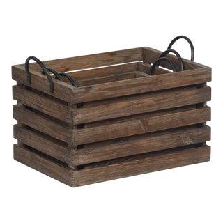 Reclaimed Wood Storage Crate (set of three)
