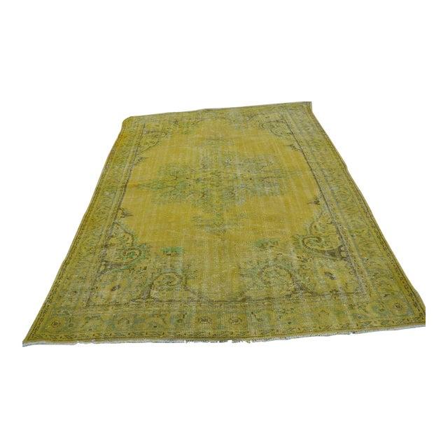 Turkish Handmade Yellow Rug - 6′1″ × 8′7″ - Image 1 of 6