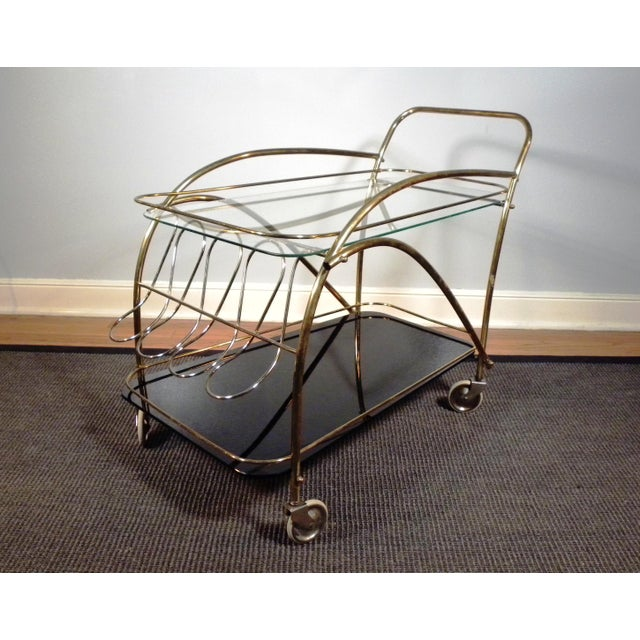 Vintage Deco Style Bar Cart - Image 3 of 8