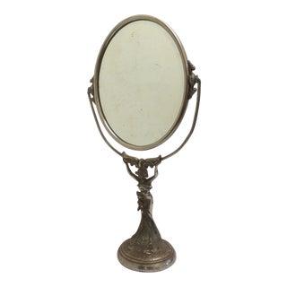 Figural Art Nouveau Vanity Mirror