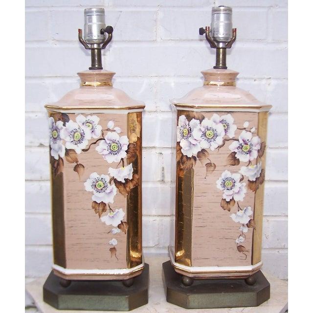 1950s Art Deco Style Ceramic Lamps - Pair - Image 3 of 8