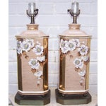 Image of 1950s Art Deco Style Ceramic Lamps - Pair