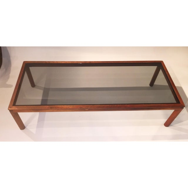 Image of Mid-Century Wood & Glass Coffee Table