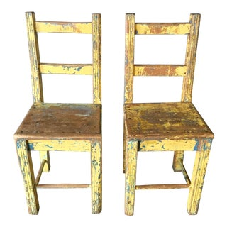 Vintage Wood Chairs - a Pair