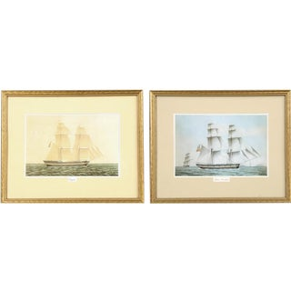 Pair of Sailboat Lithographs