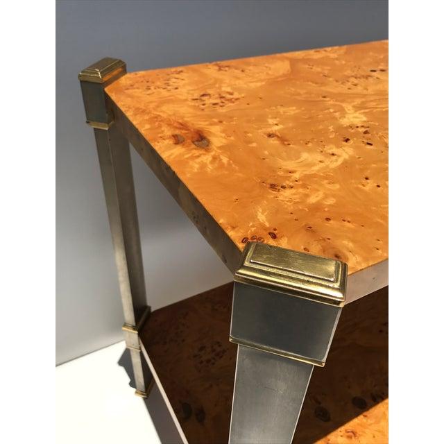 Burlwood Console Table Attributed to Romeo Rega - Image 8 of 11