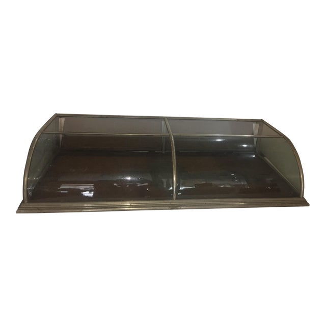 Curved Glass Nickel Mercantile Display Case Chairish