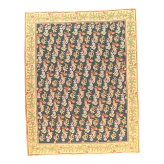 "Pasargad N Y Fench Abusson Design Flat Weave Rug - 7′8"" X 9′8″"