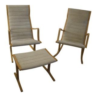 Heron Chair Suite by Mitsumasa Sugasawa for Tendo Mokko Mid-Century
