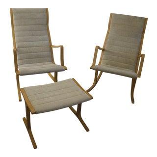 Mitsumasa Sugasawa Mid-Century Chair, Ottoman & Rocker - Set of 3