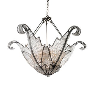 Jeweled Swan Chandelier