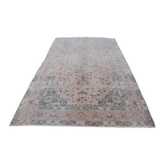 Faded Thurkish Oshak Carpet - 6′5″ × 9′6″